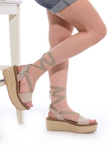 Janet & Janet Dolgu Tabanlı Sandalet Altın